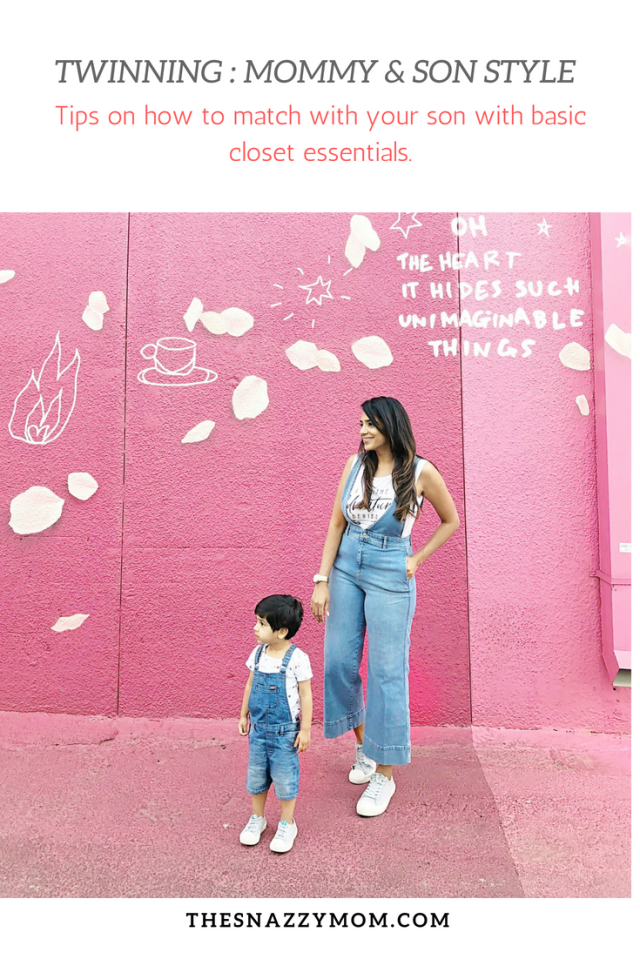 Twinning: Mommy and Son Style | The Snazzy Mom Blog